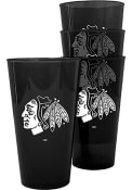 Chicago Blackhawks Plastic Pint Glass