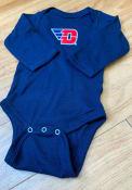 Dayton Flyers Baby Navy Blue Logo One Piece