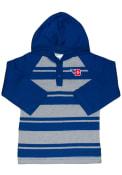 Dayton Flyers Toddler Rugby Stripe Hooded Sweatshirt - Blue