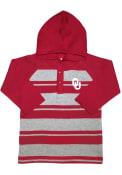 Oklahoma Sooners Toddler Rugby Stripe Hooded Sweatshirt - Crimson
