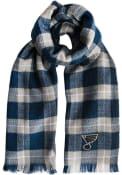 St Louis Blues Womens Plaid Blanket Scarf - Blue