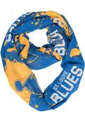 St Louis Blues Womens Splatter Scarf - Blue
