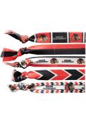 Chicago Blackhawks Womens Knotted Hair Tie Hair Scrunchie - Black