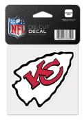 Kansas City Chiefs 4x4 Logo Auto Decal - White