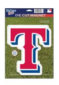 Texas Rangers Die Cut Car Magnet - White