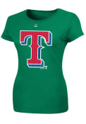 Majestic Texas Rangers Womens Emerald Green T-Shirt
