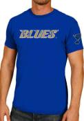 Original Retro Brand St Louis Blues Blue Wordmark Note Fashion Tee