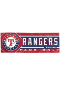 Texas Rangers 2x6 Red Vinyl Banner