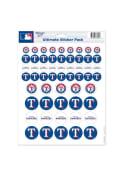 Texas Rangers 8.5x11 Stickers