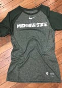 Nike Michigan State Spartans Green Marled Raglan Fashion Tee