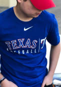 Texas Rangers Nike Practice T Shirt - Blue