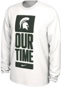 Michigan State Spartans Nike Bench Legend T-Shirt - White