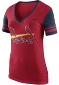 Nike St Louis Cardinals Womens Red Fan V-Neck
