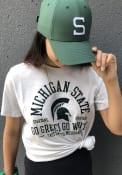 Michigan State Spartans Womens Nike Dri-FIT Slub Crew Neck T-Shirt - White