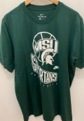 Michigan State Spartans Nike Retro Basketball T Shirt - Green