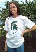 Michigan State Spartans Nike Asbury Logo T Shirt - White