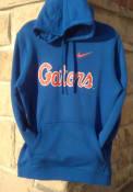 Florida Gators Nike Club Fleece WordmarK Hooded Sweatshirt - Blue