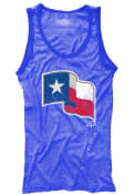 Texas Rangers Womens Contrast Tank Top - Blue