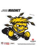 Wichita State Shockers 6x6 Car Magnet - Yellow