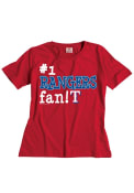 Texas Rangers Toddler Red #1 Fan T-Shirt