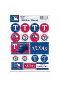 Texas Rangers 5x7 Sheet of Stickers