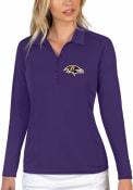Baltimore Ravens Womens Antigua Tribute Polo Shirt - Purple