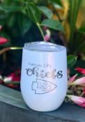 Kansas City Chiefs 10oz Opal Stemless Wine Stainless Steel Tumbler - White
