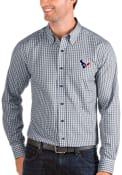 Houston Texans Antigua Structure Dress Shirt - Navy Blue