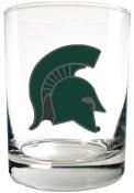 Michigan State Spartans 14oz Emblem Rock Glass