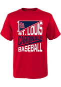 St Louis Cardinals Youth Billboard Flag T-Shirt - Red
