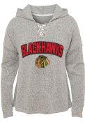 Chicago Blackhawks Girls Eternal Play Hooded Sweatshirt - Grey