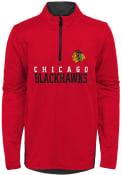 Chicago Blackhawks Boys Benchmark 1/4 Zip Pullover - Red