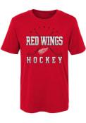 Detroit Red Wings Boys Digital T-Shirt - Red