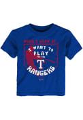 Texas Rangers Toddler When I Grow T-Shirt - Blue