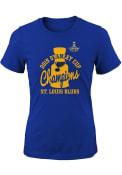 St Louis Blues Girls 2019 Cup Champs Script T-Shirt - Blue