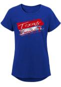 Texas Rangers Girls Brush Stroke T-Shirt - Blue