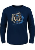 Philadelphia Union Boys Splashin T-Shirt - Navy Blue