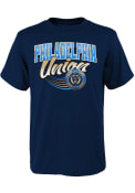 Philadelphia Union Boys Activate T-Shirt - Navy Blue