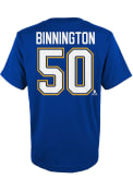 Jordan Binnington St Louis Blues Youth Name Number T-Shirt - Blue