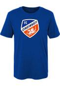 FC Cincinnati Boys Primary Logo T-Shirt - Blue