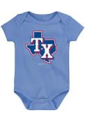 Texas Rangers Baby Alternate Logo One Piece - Light Blue