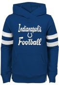 Indianapolis Colts Girls Claim to Fame Hooded Sweatshirt - Blue