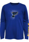St Louis Blues Boys Stop The Clock T-Shirt - Blue
