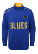 St Louis Blues Boys Attacking Zone 1/4 Zip Pullover - Blue