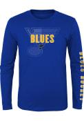 St Louis Blues Youth Hockey Maze T-Shirt - Blue