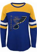 St Louis Blues Girls Fan Edge Long Sleeve T-shirt - Blue