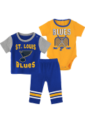 St Louis Blues Infant Ice Rookie Top and Bottom - Blue
