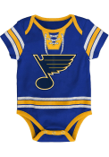 St Louis Blues Baby Hockey Pro One Piece - Blue