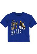 St Louis Blues Infant The Zamboni T-Shirt - Blue