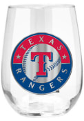 Texas Rangers 15oz Emblem Stemless Wine Glass